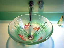 Picture of Goldfish Fused Glass Vessel Sink