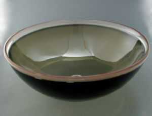 Picture of Blown Glass Sink - Olive Bronze