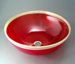 Blown Glass Sink - Cherry Gold