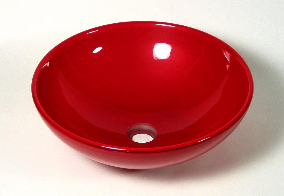 Picture of Blown Glass Sink - Crimson