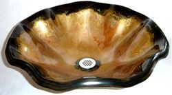 Picture of Laventino Dell'Oro Wavy Edge Glass Vessel Sink