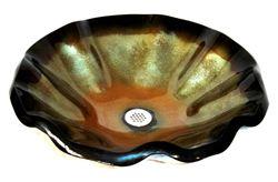 Picture of Vaso Verde Wavy Edge Glass Vessel Sink