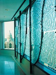 Glass and Steel Wall