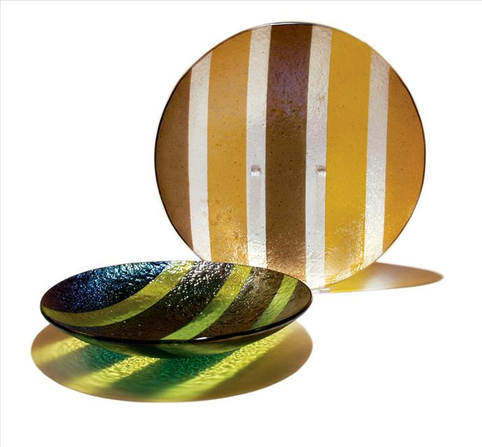 Picture of Green and Amber Line Bowls