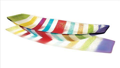 Multicolored Line Boat Bowl