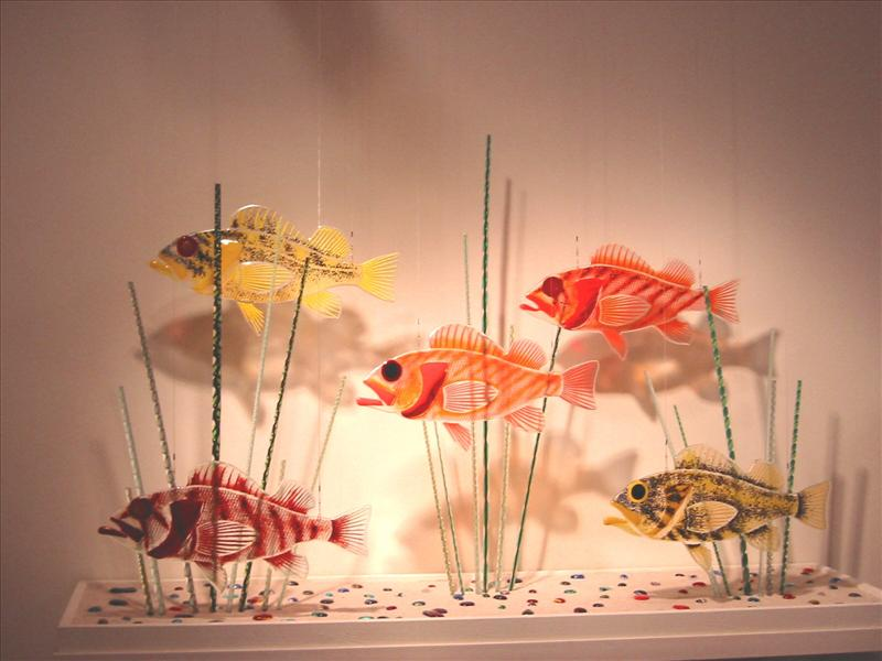 Picture of Rockfish Dichroic Glass Sculpture