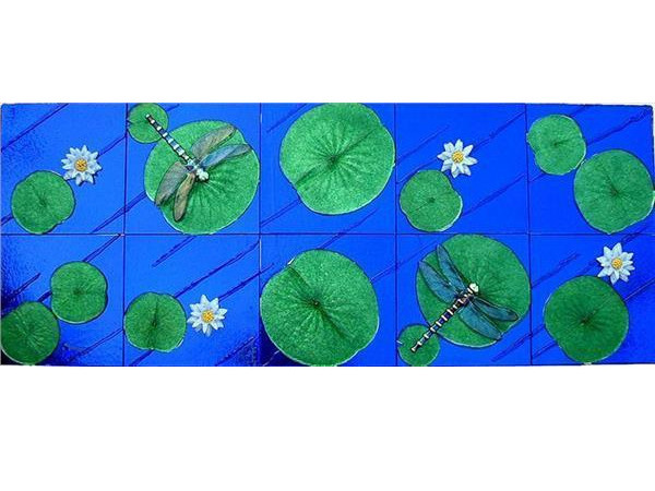 Picture of Glass Dragonfly Panel