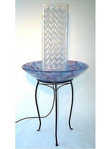 Glass Fountain Sculpture