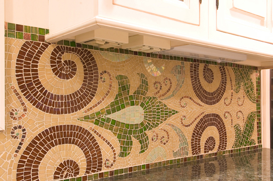 Picture of Glass Mosaic Backsplash