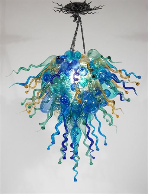 Picture of Blown Glass Chandelier 293