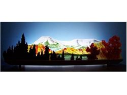 Early Snow on Mount Katahdin Glasscape Lighting Sculpture