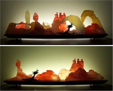 Moab Glasscape Lighting Sculpture