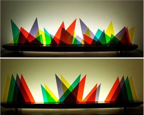 Scalene Glasscape Lighting Sculpture