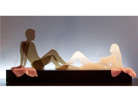 Sauvignon Blanc Glasscape Lighting Sculpture