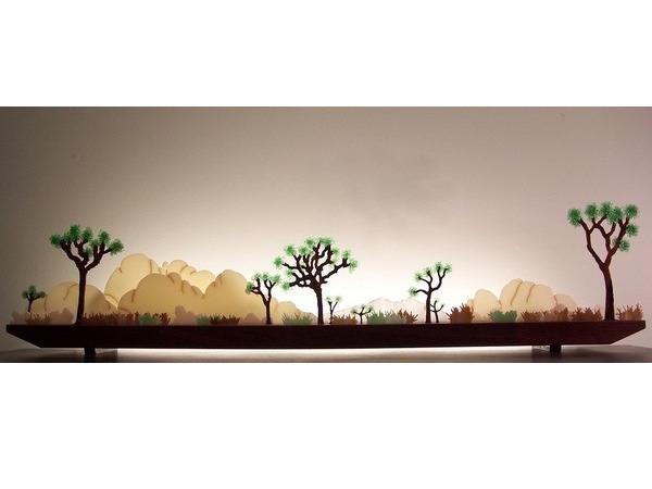 Picture of Desert Dawn Glasscape Lighting Sculpture