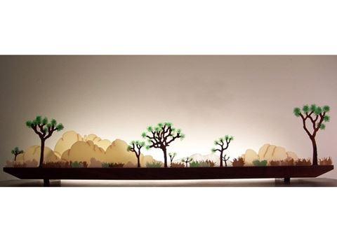 Desert Dawn Glasscape Lighting Sculpture