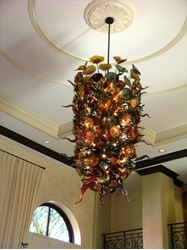 Picture of Blown Glass Chandelier - Naples Bay