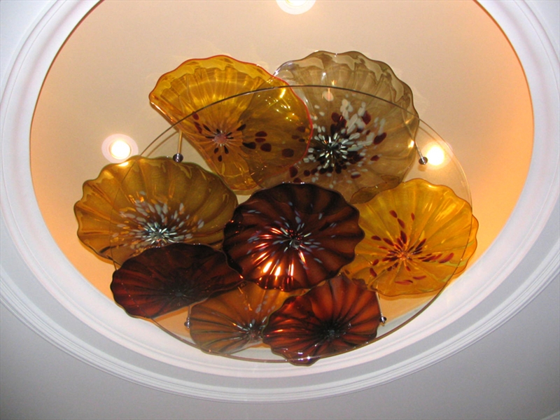 Picture of Blown Glass Ceiling Light Sculpture II