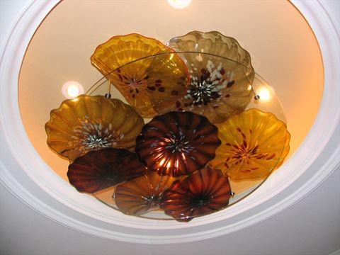 Blown Glass Ceiling Light Sculpture II