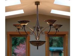 Picture of Blown Glass Chandelier - Multi Iris