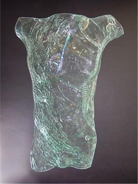 Picture of Eager Glass Male Torso Sculpture