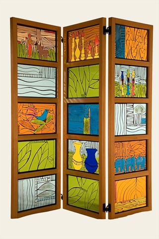 Colors of India Room Divider