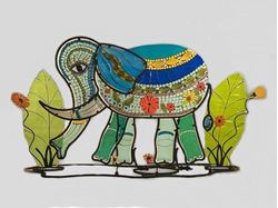 Picture of Bella Elephant Fused Glass Sculpture