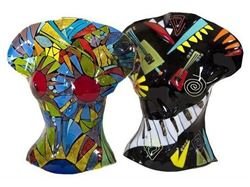Picture of Temptation and Music Glass Sculpture