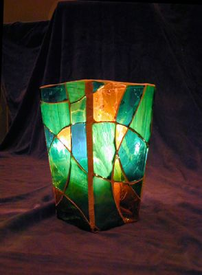 """Picture of """"Dance With Me"""" Glass Mosaic Vase"""