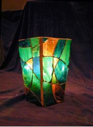 """Dance With Me"" Glass Mosaic Vase"