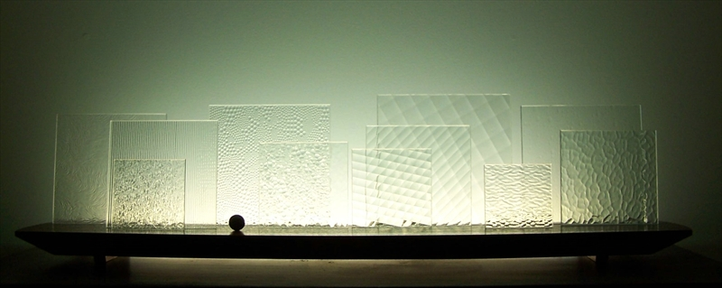Picture of Square Ice Glasscape Lighting Sculpture
