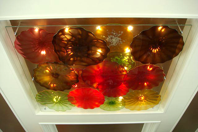 Picture of Blown Glass Ceiling Light Sculpture