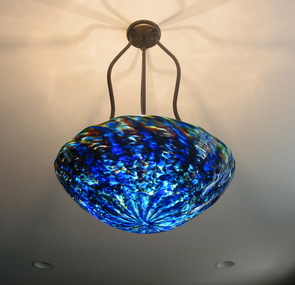 Picture of Blown Glass Chandelier - Tripod
