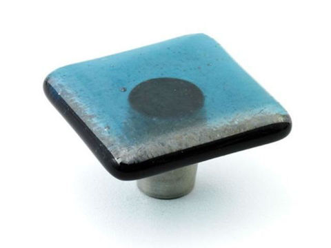 Iridescent Glass Cabinet Knobs - 3 color options