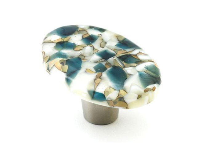Picture of Pebbles Glass Cabinet Knob - 6 color options