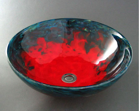 Blown Glass Sink - Caliente