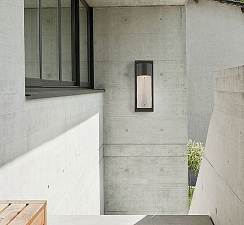 Short Round Outdoor Cover Sconce