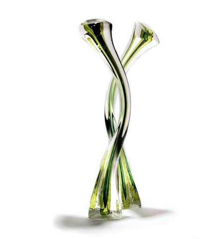 Triangle Solids Blown Glass Sculpture