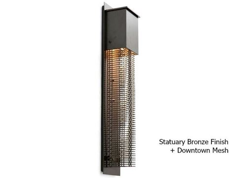 Tall Square Mesh Outdoor Cover Sconce