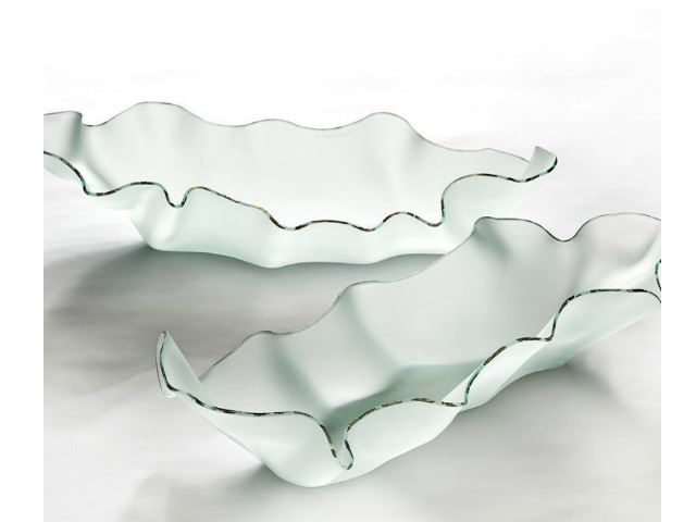 Picture of Hydra Frosted Glass Serving Dish
