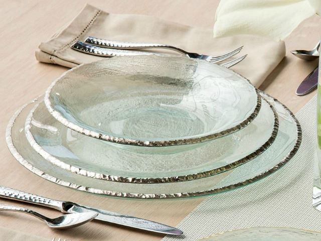 """Picture of Edgey 12"""" Glass Charger Plate"""