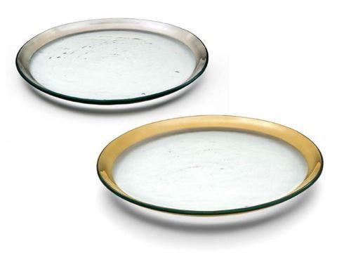 """Roman Antique 12"""" Glass Buffet Plate"""