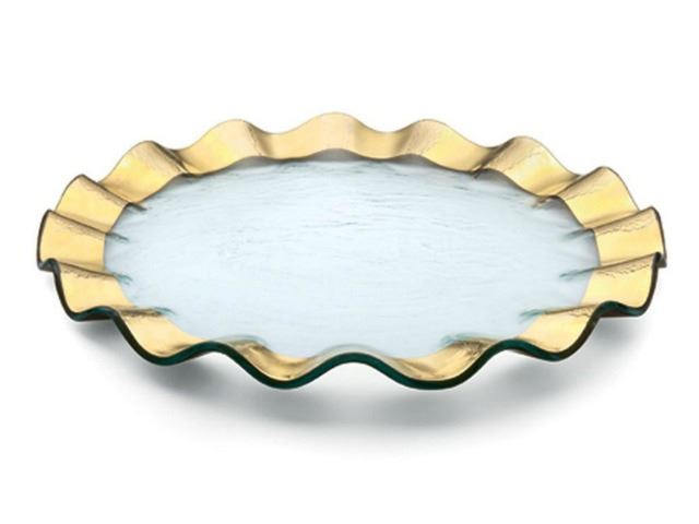 "Picture of Ruffle 13"" Glass Buffet Plate"