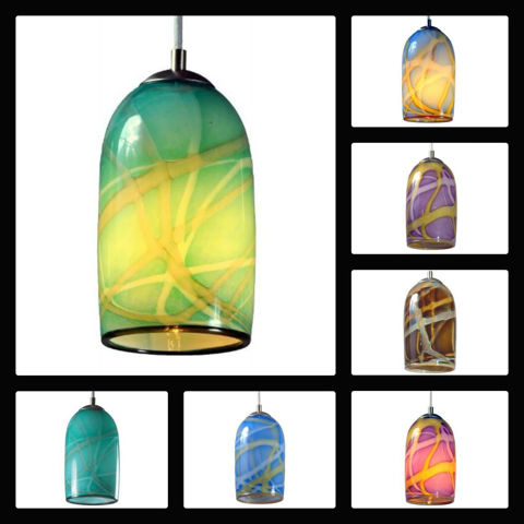 Blown Glass Pendant Light | Sky Blue