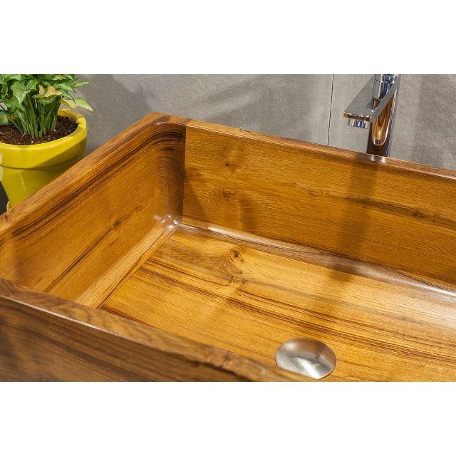 Picture of Teak Wood Bath Sink - T1