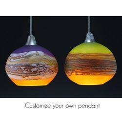 Blown Glass Pendant Light - Create Your Own Round Strata