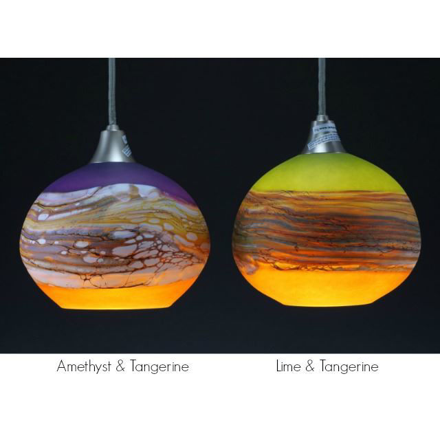Picture of Blown Glass Pendant Light - Create Your Own Round Strata