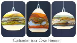 Blown Glass Pendant Light - Create Your Own Opal Strata