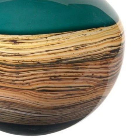 Blown Glass Vase | Sage Round Strata