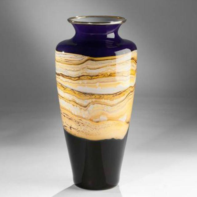 Picture of Blown Glass Vase | Cobalt Strata